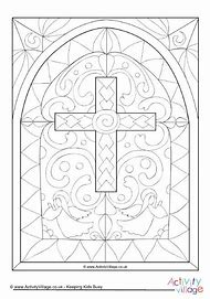 Church Stained Glass Window Coloring Page
