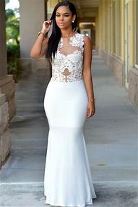 robes de mode robe blanche droite pas cher With longue robe blanche pas cher
