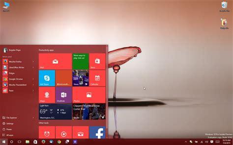 Windows 10 Build 10162 Start Menu Screenshots