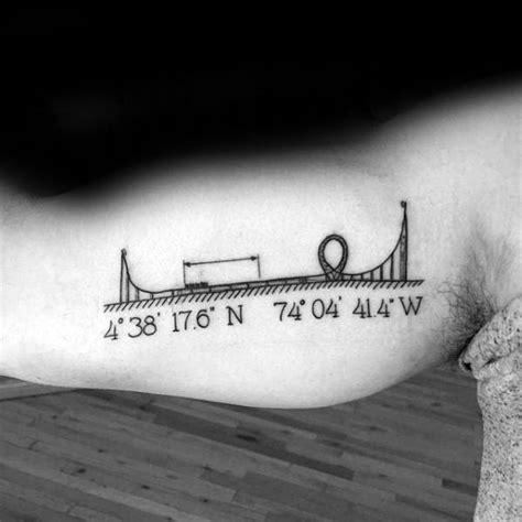 roller coaster tattoo designs  men amusement ride
