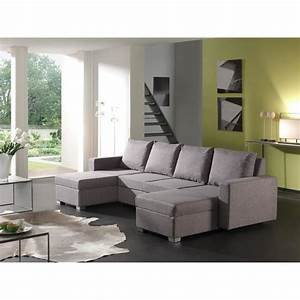canape d39angle panoramique convertible tissu gris volta With canapé panoramique tissu gris