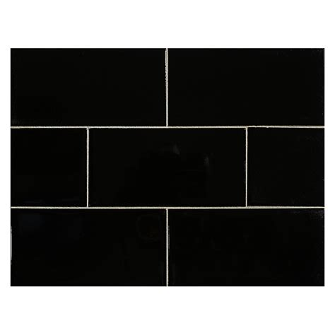 black gloss ceramic floor tiles vermeere ceramic tile black gloss 3 quot x 6 quot subway tile