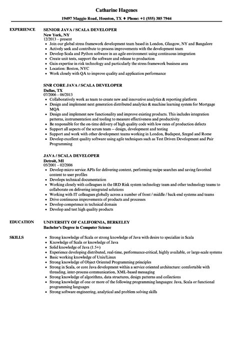 java scala developer resume sles velvet
