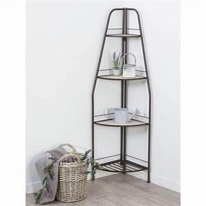 Petite étagère D Angle : tag re d 39 angle 3 niveaux recup naturel ~ Teatrodelosmanantiales.com Idées de Décoration