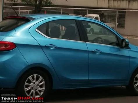 tata kite  sedan spied  blue colour launch expected