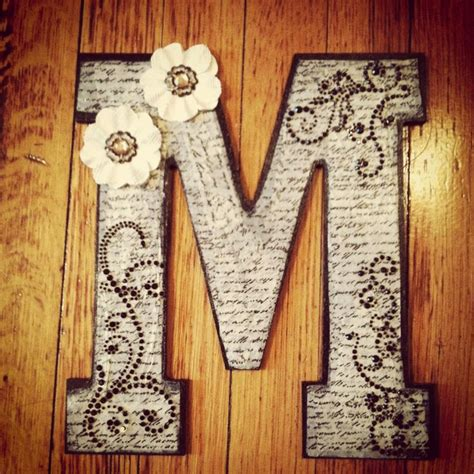 diy wooden monogram letters pretty  petite