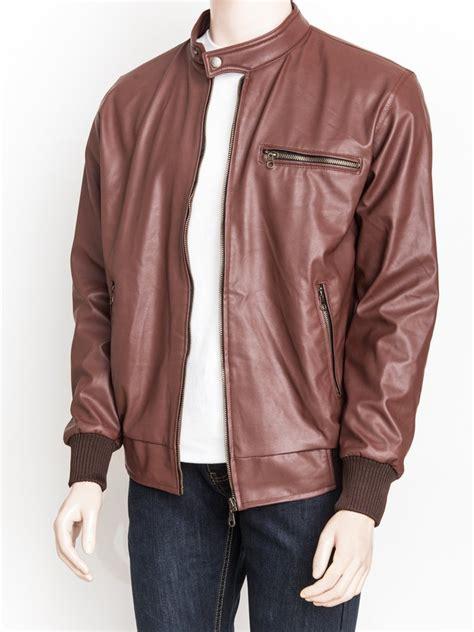 jual jaket kulit sintetis premium warna coklat