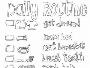 Daily Routine Coloring Pages