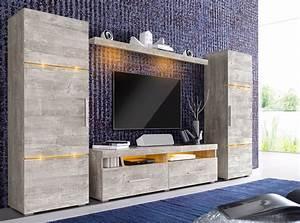 Wohnwand Weiß Mit Holz : wohnwand 4 tlg wohnzimmer ~ Bigdaddyawards.com Haus und Dekorationen