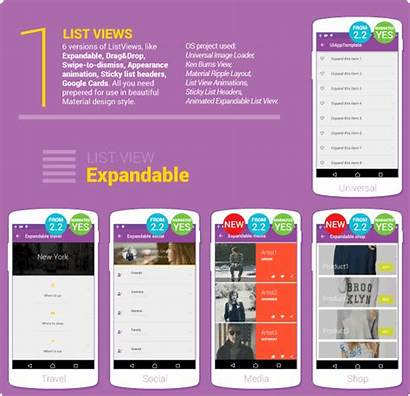 Material Android Ui Elements App Template Google