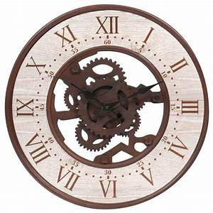 Horloge en métal effet rouille D 39 cm SEATTLE Maisons