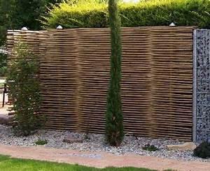 Garten Sichtschutz Bambus : bambussichtschutz mit gabionen kombiniert garten ~ A.2002-acura-tl-radio.info Haus und Dekorationen