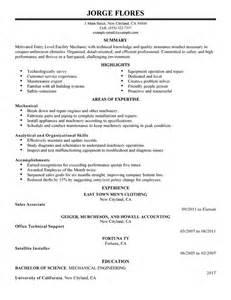 Cover Letter Mechanic Best Entry Level Mechanic Maintenance Janitorial Resume Exle Livecareer