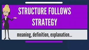 What Is Structure Follows Strategy  What Does Structure