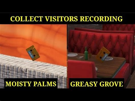 collect  visitor recording   moisty palms