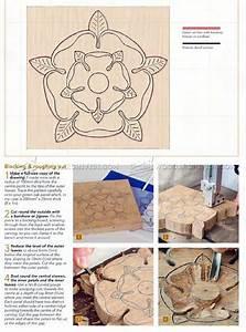 Tudor Rose Carving - Wood Carving Patterns • WoodArchivist