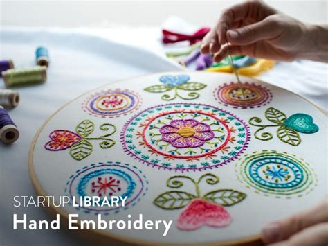 startup library hand embroidery  class craftsy