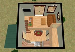 The Cozy Cube: Tiny House with a Balcony from Cozy Home Plans