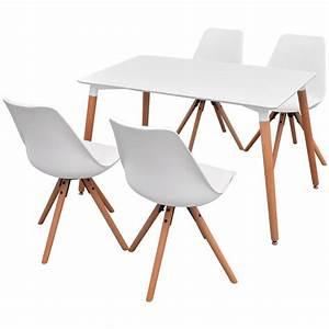 Amazon Stühle Günstig : vidaxl 5 teilige essgruppe tisch st hle wei g nstig ~ Sanjose-hotels-ca.com Haus und Dekorationen