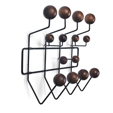 Hang It All by Eames Style Hang It All Wall Hanger Multicolor Or Walnut