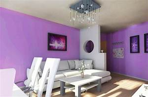 Schlafzimmer Lila Wand Wandfarben Zimmerfarben