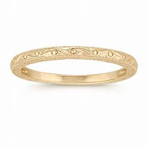 14k Yellow Gold Wedding Band Shane Co