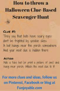 Halloween Treasure Hunt Riddles Adults by Halloween Themed Scavenger Hunt Funjoyable