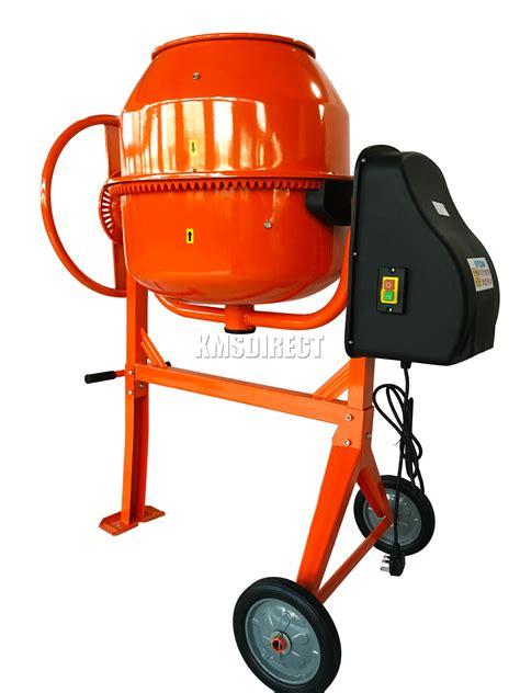 foxhunter 650w 140l drum portable electric concrete cement mixer mortar plaster ebay