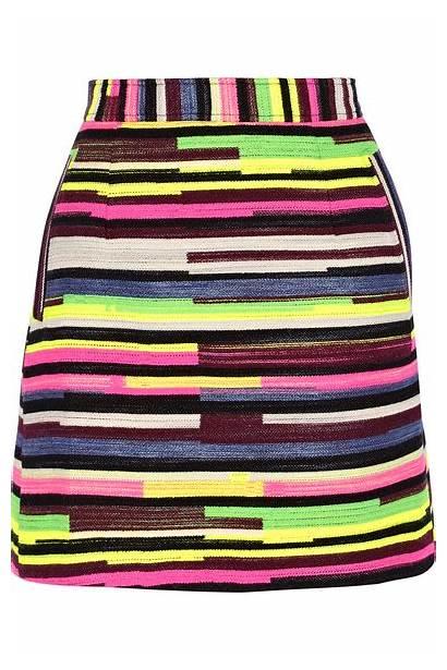 Porter Gina Jacquard Holland Striped Skirt Mini