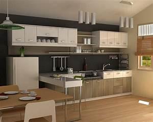 Deco cuisine toute petite deco maison moderne for Idee deco cuisine avec cuisine intégrée moderne