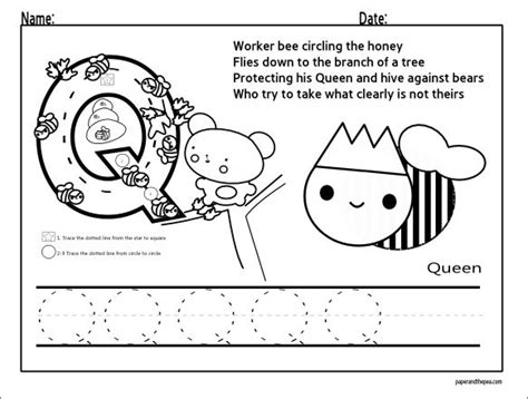 13 best images about letter q worksheets on