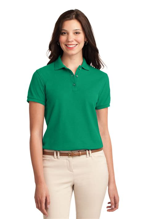 Greenlight Classic Polo Grey l500 port authority s golf shirt silk touch polo new