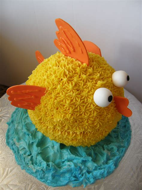 gold fish  birthday cake gold fish cake  ball