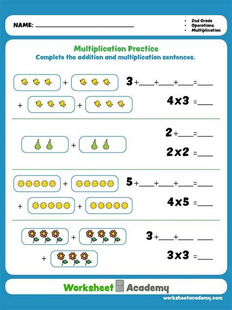 multiplication practice kindergarten worksheets