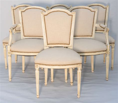 set of six dining room louis xvi chairs at 1stdibs