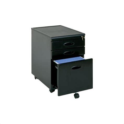 sauder file cabinet black sauder 3 drawer mobile metal file cabinet in black 18581