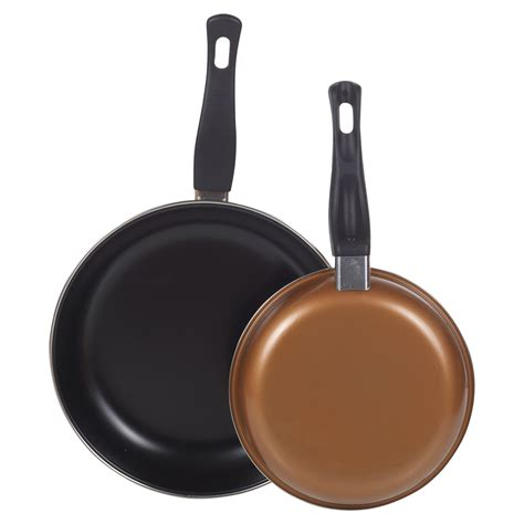 copper  set   frying pans  stick easy clean cooking saute pan student  ebay