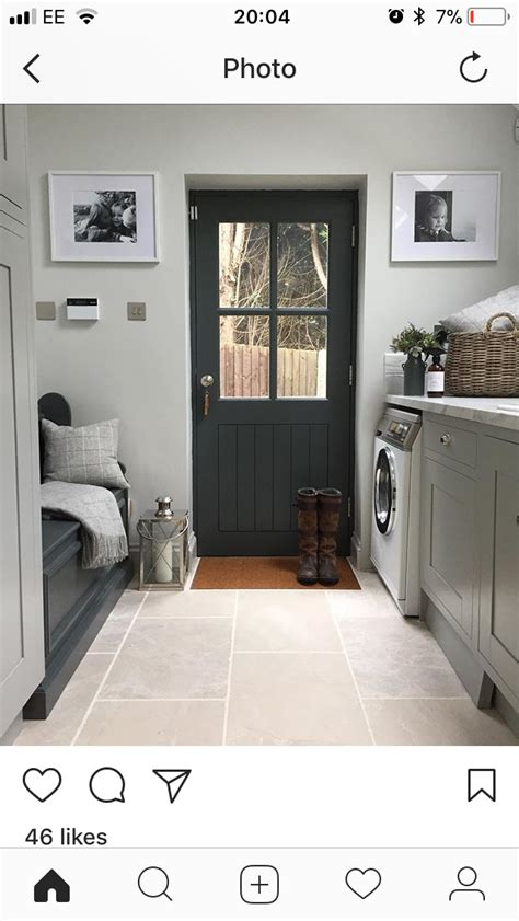 Monochrome House With Secrete Utility Room by Bench In Utility Laundry Mud Room For The Home In 2019