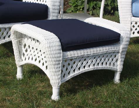 white wicker chair and ottoman white outdoor wicker ottoman
