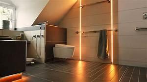 Badezimmer Beleuchtung Wand : badsanierung moderne badezimmer mit led beleuchtung schl ter systems ~ Michelbontemps.com Haus und Dekorationen