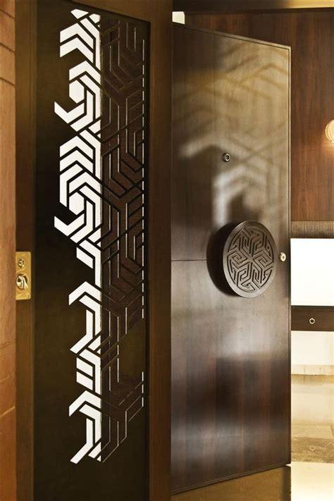 ideas  dark brown wooden doors   give modern  genmice
