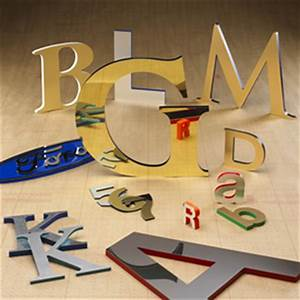 laminated sign letters With gemini metal letters