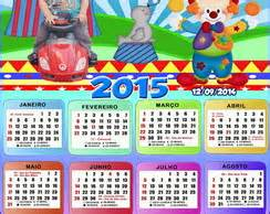 Calendario 10x15cm Galinha Pintadinha Elo7