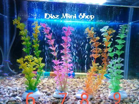jual tanaman hiasan aquarium tanaman plastik hiasan