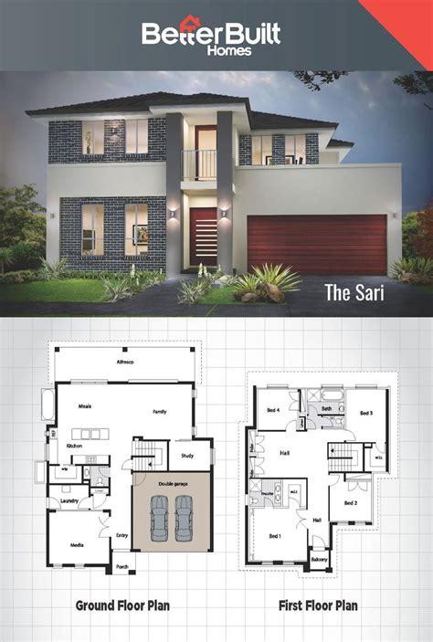 double story house designs  storey floor plan