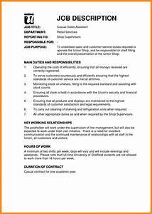 6 resume job description examples manager resume With example of a job description template