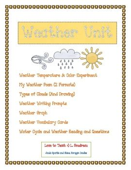 weather unit  grade    weather lessons weather