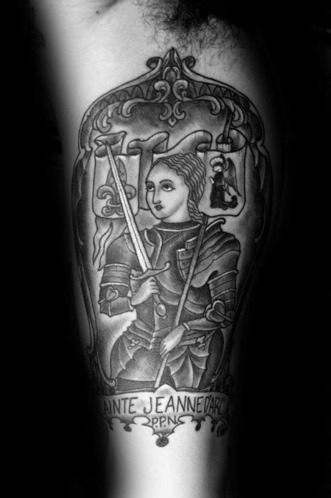 40 Joan Of Arc Tattoo Designs For Men - Saint Ink Ideas