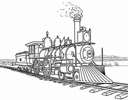 Train Coloring Steam Railroad Amazing