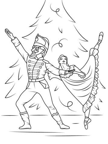 Nutcracker Ballet coloring page | Free Printable Coloring
